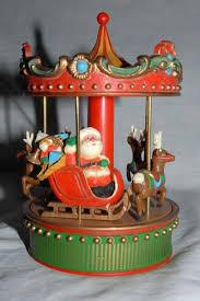 estate sale carousel box santa reindeer hallmark