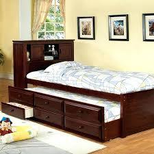 High Twin Bed Frame King Size Trundle Bed Frame Modern Platform Bed Mid Century Modern