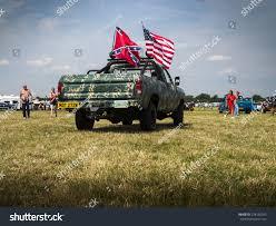 Americana Flags 1950s American Classic Truck Flying American Stock Photo 278150342