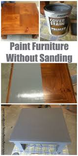refinishing wood table without stripping diy table to ottoman and how to paint furniture without sanding