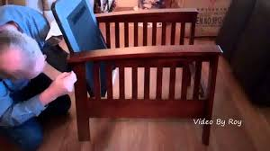 mission style chair faux leather assembly youtube