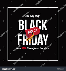 black friday price cut background marketing stock vector 748792339