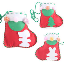 christmas socks handmade handbags diy non woven felt fabric cloth