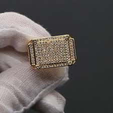 rings with square images Fashion rings square big width signet rings delicate gold man jpg