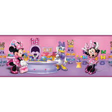 Wall Borders York Wallcoverings Walt Disney Kids Ii Minnie Bowtique Wallpaper