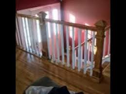 Stairway Banisters And Railings How To Install Interior Oak Stair Railing Systems And Designs