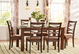 Brown Dining Room by Three Posts Crossback 7 Piece Dining Set U0026 Reviews Wayfair