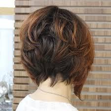 graduated layered blunt cut hairstyle choppy bob for thick hair haircuts pinterest thicker hair