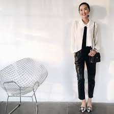 blouse bow blouse chrisellelim blogger streetwear winter