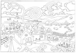 hard halloween coloring pages for adults coloring home