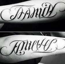 mens family forever ambigram inspiration ambigram tattoos