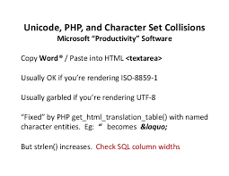 Unicode Character Table Unicode Php And Character Set Collisions