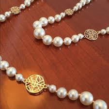 crystal pearl necklace images Tory burch jewelry soldtory burch crystal pearl necklace poshmark jpg