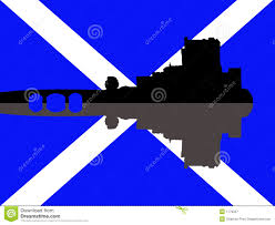 scottish castle and flag stock image image of manor icon 8512435