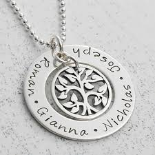 personalized family tree necklace family tree of necklace s jewellery keepsake