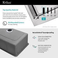 Commercial Grade Kitchen Faucet Stainless Steel Kitchen Sink Combination Kraususa Com