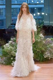 feather wedding dress wedding worthy fringe and feathers bridalguide
