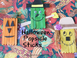 dabblingmomma halloween popsicle sticks