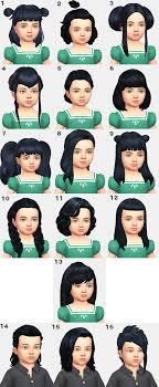 sims 4 maxis match cc hair cc showcase toddler hairstyles maxis match moose simblr