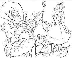 alice wonderland coloring pages coloring