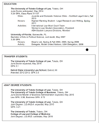Sample Law Student Resume Legal Resumes