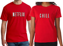 Netflix And Chill Couple Men Women Shirt Netflix And Chill