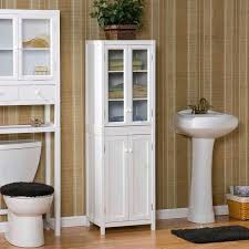 Tall Bathroom Storage Cabinets With Doors by Bathroom Espresso Solid Wood Bathroom Storage Cabinet Double