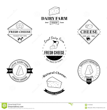 milk and cheese labels icons and design elements stock vector