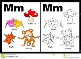 letter m worksheet royalty free stock images image 24257609