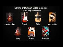 comparison audio compare pickup tones seymour duncan