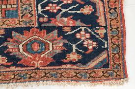 Neutral Persian Rug Worn Authentic Antique Heriz Persian Rug Circa 1900 At 1stdibs