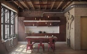 interior industrial home details brick minimalist interior