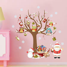 merry christmas home decorative wall sticker santa claus reindeer 20