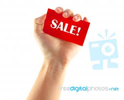 holding sale card stock photo royalty free image id