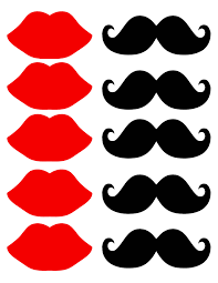 10 best images of free mustache cut outs printable free