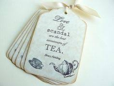 Downton Favors by Vintage Tea Tags Bridal Shower Favor Tags Gift Tags Place