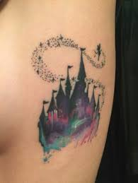 beauty and the beast watercolour rose u2022tattoos u2022 pinterest