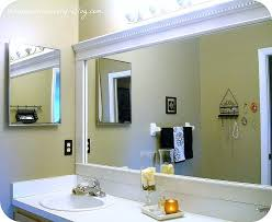 How To Make A Bathroom Mirror Frame Bathroom Mirror Frame Cheap And Easy Way To Update A Bathroom