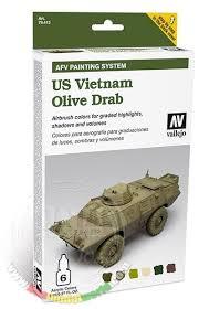vallejo us vietnam olive drab colour paint set afv painting