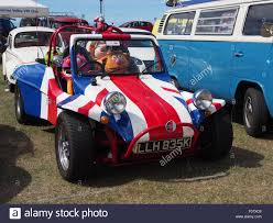 volkswagen beach volkswagen beach buggy painted union flag colors with muppets sat