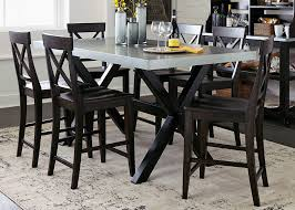 liberty furniture keaton ii casual gathering table with trestle