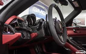porsche steering wheel porsche 918 spyder carbon additions gmg racing