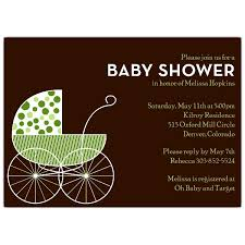 big baby carriage green shower invitations paperstyle