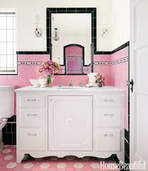 Pink Tile Bathroom by Bathroom With Colorful Tile 1930s Bathroom Design