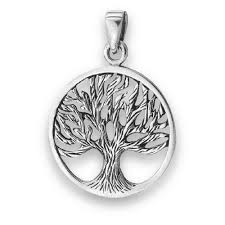 sterling silver tree of pendant free silver snake chain