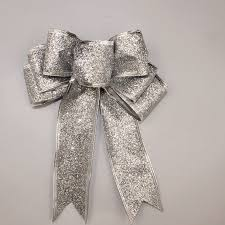 Christmas Tree Decorations Gold Bows by Aliexpress Com Buy 3 Color Large Red Silver Gold Sparkling
