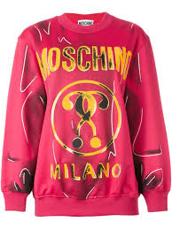 moschino for sale moschino trompe l u0027œil logo sweatshirt women