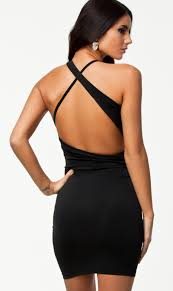 black cut out dress black cut out cross back bodycon dress abaday