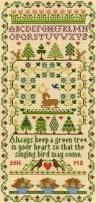 tree sampler cross stitch kit
