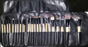 24 piece makeup brush set uses and review